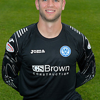 St Johnstone FC Season 2012-13 Photocall<br /> Alan Mannus<br /> Picture by Graeme Hart.<br /> Copyright Perthshire Picture Agency<br /> Tel: 01738 623350  Mobile: 07990 594431