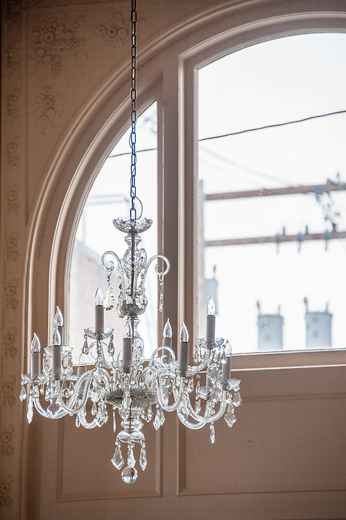 Chandelier in ballroom at the Hotel Finlen