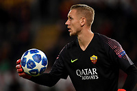 Patrick Robin Olsen of AS Roma holds the ball during the Uefa Champions League 2018/2019 Group G football match between AS Roma and CSKA Moscow at Olimpico stadium Allianz Stadium, Rome, October, 23, 2018 <br />  Foto Andrea Staccioli / Insidefoto