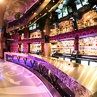 Ultra modern bar in a night club, Washington DC, USA