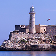 El Morro or Castillo del Morro is a fort built by Spanish in the 1500's to protect the port of Havana. <br /> Photography by Jose More