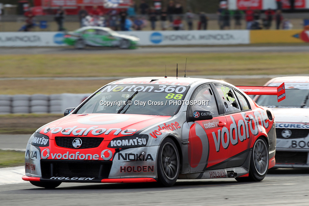 Jamie Whincup (TeamVodafone Holden). Coates Hire Ipswich 300 ~ Race 18 of the 2011 V8 Supercar Championship Series. Queensland Raceway on Sunday 21 August 2011. Photo © Clay Cross / PHOTOSPORT