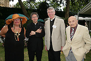 Michael Seed, Canon Robert Wright and Sir Sigmund Sternberg, Charity Garden Party  to raise money for The Passage. A London charity which provides care for homeless and vulnerable people. College Garden, Westminster Abbey<br />
