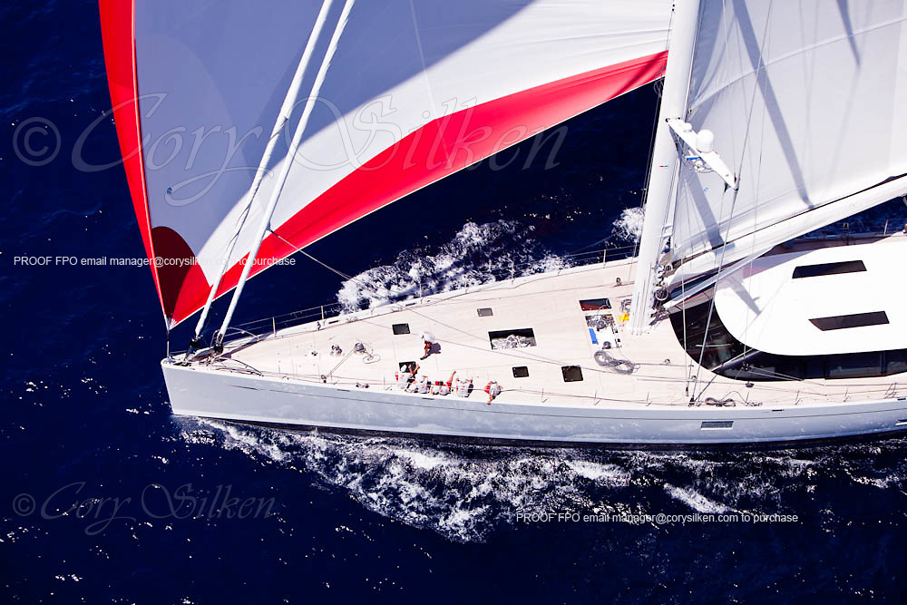 Zefira  sailing during the Caribbean Superyacht Regatta and Rendezvous, race 2.
