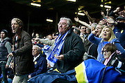 Leeds United fans unhappy with a decision by the officials during the EFL Sky Bet Championship match between Leeds United and Burton Albion at Elland Road, Leeds, England on 29 October 2016. Photo by Richard Holmes.