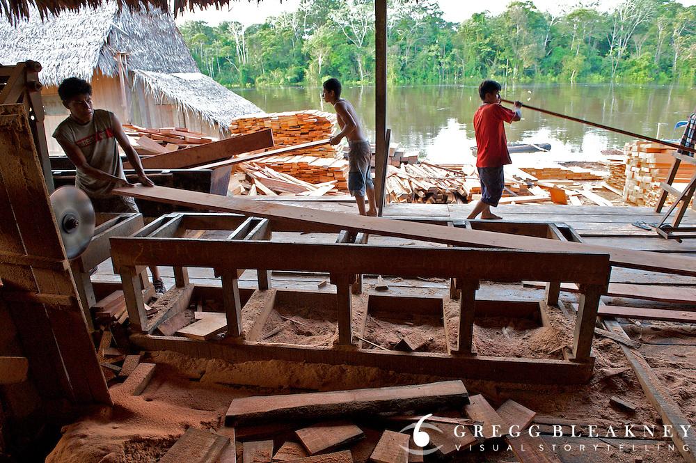 The sawmill at Tigre - Amazonas - Peru