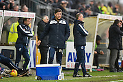 Bristol Rovers Manager, Darrell Clarke  during the EFL Sky Bet League 1 match between Bristol Rovers and Scunthorpe United at the Memorial Stadium, Bristol, England on 25 February 2017. Photo by Adam Rivers.