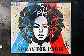 Street Art in Paris againsts the terror attacks