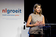 HALFWEG - Queen Maxima attends the meeting in the former sugar factory Sugar City at the third annual event. Nlgroeit is a platform that supports entrepreneurs from small and medium-sized enterprises in realizing their growth ambitions. ROBIN UTRECHT