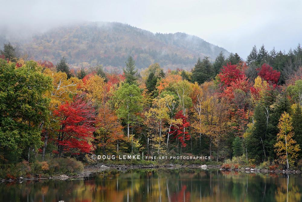 A Foggy Autumn Morning On Tupper Lake, Adirondack Mountains, New York