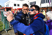 Artur Boruc (1) of AFC Bournemouth has a selfie with a fan as he arrives at the Vitality Stadium before the Premier League match between Bournemouth and Manchester City at the Vitality Stadium, Bournemouth, England on 2 March 2019.