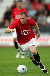 WAYNE ROONEY.MANCHESTER UNITED FC.DUNFERMLINE V MANCHESTER UTD.EAST END PARK, DUNFERMLINE, SCOTLAND.08 August 2007.DIQ64293..  .WARNING! This Photograph May Only Be Used For Newspaper And/Or Magazine Editorial Purposes..May Not Be Used For, Internet/Online Usage Nor For Publications Involving 1 player, 1 Club Or 1 Competition,.Without Written Authorisation From Football DataCo Ltd..For Any Queries, Please Contact Football DataCo Ltd on +44 (0) 207 864 9121
