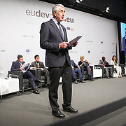 03 June 2015 - Belgium - Brussels - European Development Days - EDD - Special Event - A more connected , contested and complex world is in your hands - A conversation with Federica Mogherini and Sam Kutesa - Simon Maxwell , Senior Research Associate , Overseas Development Institute (ODI) © European Union