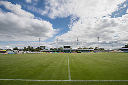 RHYL, WALES - Saturday, September 2, 2017: Rhyl FC Stadium before the Under-19 international friendly match between Wales and Iceland at Belle Vue. (Pic by Gavin Trafford/Propaganda)