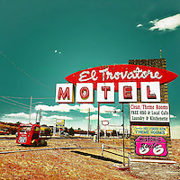 Old vintage motel sign