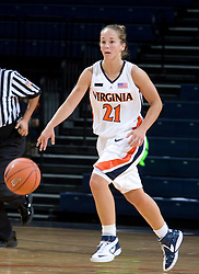 Virginia Cavaliers G Tara McKnight (21)..The Virginia Cavaliers women's basketball team faced Team Concept in an exhibition basketball game at the John Paul Jones Arena in Charlottesville, VA on November 5, 2007.