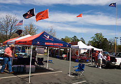 Fans tailgate in the parking lot outside Scott Stadium.  The Virginia Cavaliers football team played the annual spring football scrimmage at Scott Stadium on the Grounds of the University of Virginia in Charlottesville, VA on April 18, 2009.  (Special to the Daily Progress / Jason O. Watson)