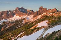 Cutthroat Prak at daybreak. Seen from Cutthroat Pass, North Cascades Washington