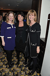 Left to right, JOANNA PAGE, ZITA WEST and KATE GARRAWAY at a party to celebrate the publication of Zita West's book - Your Pregnancy Consultant held at China Tang, Park Lane, London on 6th December 2012.