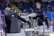 KELOWNA, CANADA - DECEMBER 07: Orchard Park Zamboni Rider at the Kelowna Rockets game on December 07, 2018 at Prospera Place in Kelowna, British Columbia, Canada. (Photo By Cindy Rogers/Nyasa Photography, *** Local Caption ***
