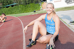 Laura Strajnar during Day 1 of Slovenian Athletics National Championships 2013, on July 27, 2012 in Celje, Slovenia. (Photo by Gregor Krajnčič / Sportida.com)