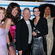 NLD/Rotterdam/20130209 - De Franse modeontwerper Jean Paul Gaultier opent zijn tentoonstelling in de Kunsthal Rotterdam, Jean Paul Gaultier en directeur Emily Ansenk