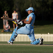 Rumeli Dhar batting during the ICC Women's World Cup Cricket play off for third place between Australia and India at Bankstown Oval, Sydney, Australia on March 21, 2009. India beat Australia by three wickets. Photo Tim Clayton