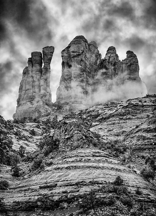 Black and white image shot in Sedona, Arizona.