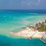 Aerial view of Playa Norte. Isla Mujeres. Quintana Roo. Mexico.