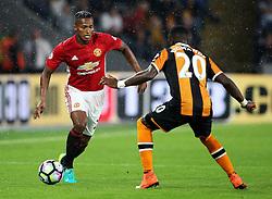 Luis Antonio Valencia of Manchester United takes on Adama Diomande of Hull City  - Mandatory by-line: Matt McNulty/JMP - 27/08/2016 - FOOTBALL - KC Stadium - Hull, England - Hull City v Manchester United - Premier League