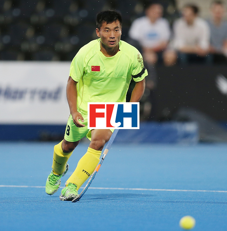 LONDON, ENGLAND - JUNE 15:  Wenhui E of China during the Hero Hockey World League Semi Final match between England and China at Lee Valley Hockey and Tennis Centre on June 15, 2017 in London, England.  (Photo by Alex Morton/Getty Images)