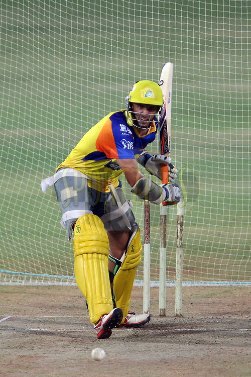 Michael Hussey during the practice session of the Chennai Super Kings and Deccan Chargers held at the MA Chidambaram Stadium in Chennai, Tamil Nadu, India on 3 May 2012...Photo by Jacques Rossouw/BCCI/SPORTZPICS .