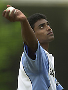 Photo Peter Spurrier.20/06/02.Indian training session at the nets - Lords.Tinu Yohannan 20020620, India Test Team, Nets, Lords. [Mandatory Credit Peter Spurrier:Intersport Images]