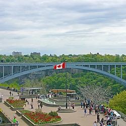 The Rainbow Bridge, spanning Niagara Falls, Ontario and Niagara Falls, New York