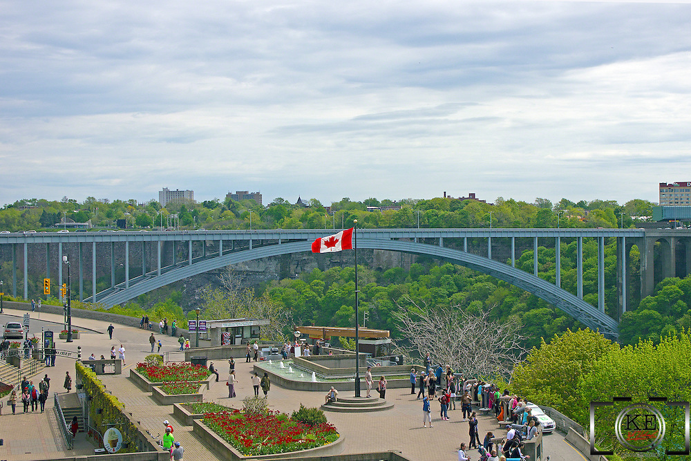 The Rainbow Bridge, spanning Niagara Falls, Ontario and Niagara Falls, New York