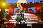 Iggy Azalea performing at the iHeartRadio Jingle Ball 2014, hosted by Z100 New York at Madison Square Garden on December 12, 2014 in New York City.
