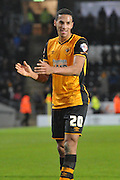 Hull City defender Isaac Hayden (20) celebrates scoring to go 6-0 up during the Sky Bet Championship match between Hull City and Charlton Athletic at the KC Stadium, Kingston upon Hull, England on 16 January 2016. Photo by Ian Lyall.