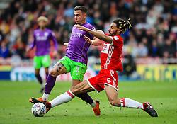 Ryan Shotton of Middlesbrough tackles Joe Bryan of Bristol City - Mandatory by-line: Matt McNulty/JMP - 14/04/2018 - FOOTBALL - Riverside Stadium - Middlesbrough, England - Middlesbrough v Bristol City - Sky Bet Championship