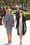 030115 Spanish Royals Receive President of Colombia Juan Manuel Santos and wife
