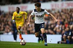 Son Heung-Min of Tottenham Hotspur in action - Mandatory by-line: Jason Brown/JMP - 12/03/2017 - FOOTBALL - White Hart Lane - London, England - Tottenham Hotspur v Millwall - Emirates FA Cup Quarter Final