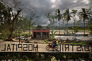 CLIENT: PROJECT HOPE<br /> <br /> Broken trees litter the ground in front of the Tapaz District Hospital, hit hard by Typhoon Yolanda (aka Typhoon Haiyan) in the province of Capiz on Panay Island, Philippines.