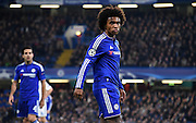 Willian in action during the Champions League group stage match between Chelsea and Dynamo Kiev at Stamford Bridge, London, England on 4 November 2015. Photo by Michael Hulf.
