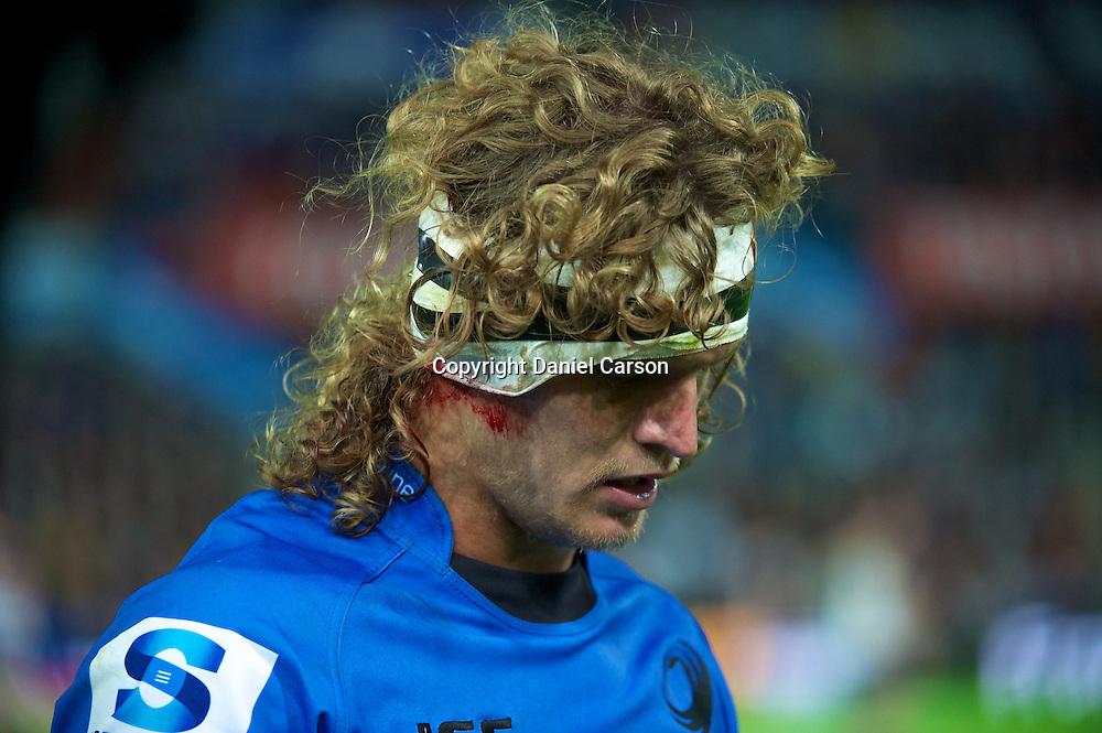 Nick Cummins has a head injury which keeps him off the pitch. Western Force v ACT Brumbies. Super 15 Rugby Match. Perth, Western Australia, nib Stadium. Saturday 21st May 2011. Photo: Daniel Carson|PHOTOSPORT