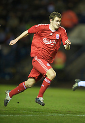 WIDNES, ENGLAND - Tuesday, February 17, 2009: Liverpool's Andras Simon during the FA Premiership Reserves League (Northern Division) match against Everton at the Halton Stadium..(Mandatory credit: David Rawcliffe/Propaganda)