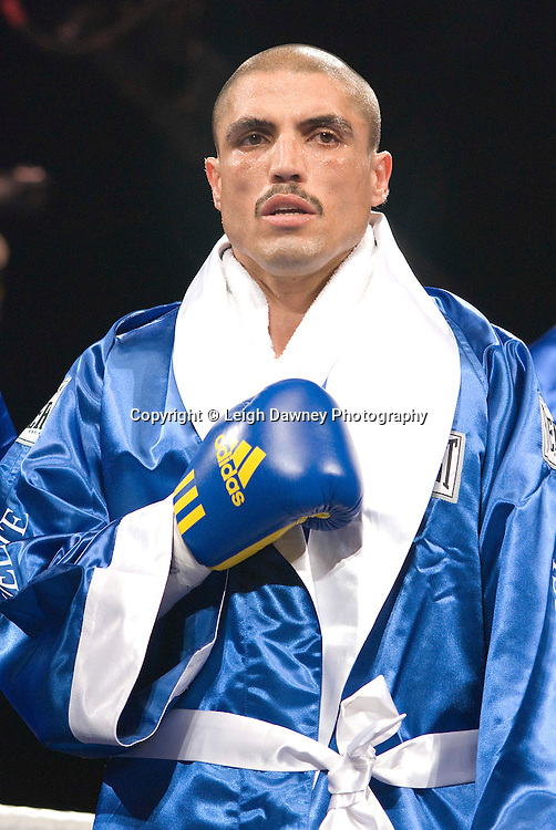 Domenico Spada prepares for fight with Darren Barker at London's Olympia on Saturday 30th April 2011 for the European Middleweight Championship. Matchroom Sport. Photo credit © Leigh Dawney.