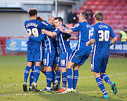 Notts County Forward Filip Valenčič celebrates his goal to make it 1-0 to Notts County during the Sky Bet League 2 match between Crawley Town and Notts County at the Checkatrade.com Stadium, Crawley, England on 16 January 2016. Photo by David Charbit.
