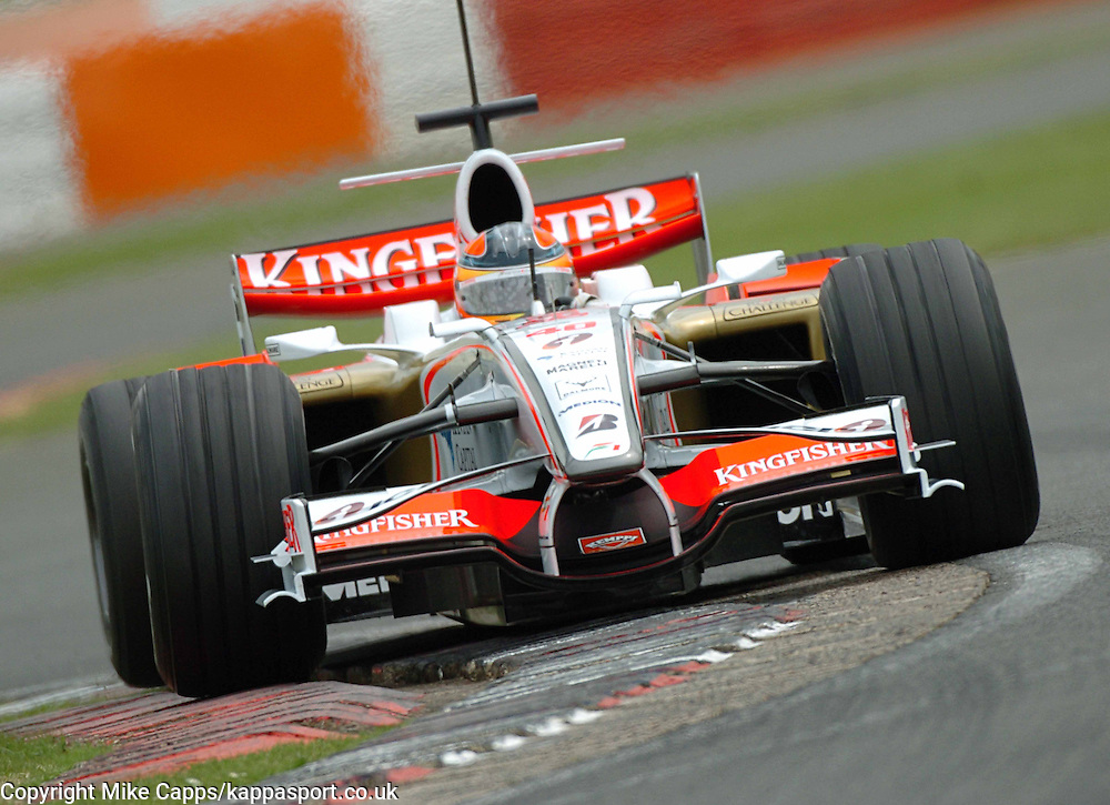 Liuzzi, Force India Formula One, Test Silverstone 2008