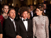 Director Michel Franco, Actor Tim Roth, actress Sarah Sutherland at the gala screening for the film Chronic at the 68th Cannes Film Festival, Friday 22nd May 2015, Cannes, France.