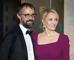 Photo Must Be Credited ©Alpha Press<br /> JK Rowling and Husband Neil Murray arrives at the EE British Academy Film Awards after party dinner at the Grosvenor House Hotel in London.