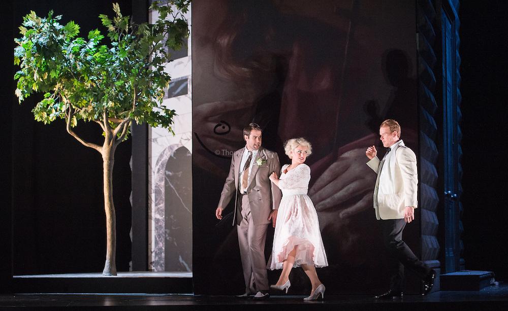 Glyndebourne Touring Opera present Don Giovanni by Wolfgang Amadeus Mozart<br /> <br /> <br /> Don Giovanni - Duncan Rock<br /> Zerlina  - Louise Alder<br /> Masetto  - Božidar Smiljanić<br /> <br /> <br /> Conductor Pablo Gonz&aacute;lez (15, 22, 25, 27, 30 Oct; 4,8, 11, 15, 18, 22, 25 Nov)<br /> Ben Gernon (29 Nov; 2, 6, 9 Dec)<br /> Director Jonathan Kent<br /> Revival Director Lloyd Wood<br /> Designer Paul Brown<br /> Lighting Designer Mark Henderson<br /> <br /> The Glyndebourne Tour Orchestra<br /> The Glyndebourne Chorus<br /> <br /> Don Giovanni Duncan Rock<br /> Donna Anna Ana Maria Labin<br /> Don Ottavio Anthony Gregory<br /> Donna Elvira Magdalena Molendowska<br /> Leporello Brandon Cedel<br /> Il Commendatore Andrii Goniukov<br /> Zerlina Louise Alder<br /> Masetto Božidar Smiljanić